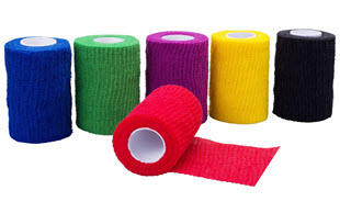 Höga-Haft Color, farbige, kohäsive, elastische Fixierbinden
