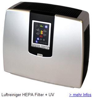 Luftreiniger HEPA Aktivkohle Ozon Aroma
