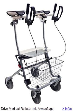 Drive Medical Cristallo 2 Rollator mit Armauflage