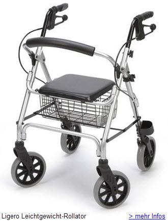 Ligero Rollator leichtgewicht mit nur 7kg