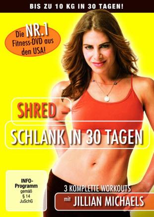 DVD Empfehlung: Jillian Michaels - Shred: Schlank in 30 Tagen