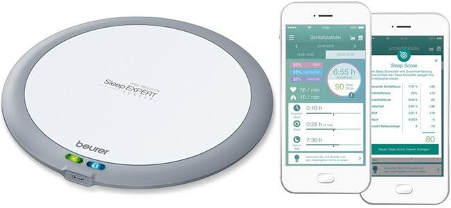 Beurer SleepExpert SE80 Schlafsensor zur Schlafanalyse und Schlafphasenwecker