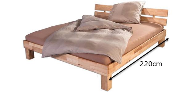 Bubema Juliane Massivholzbett Buche Doppelbett mit Kopfteil von Betten-ABC