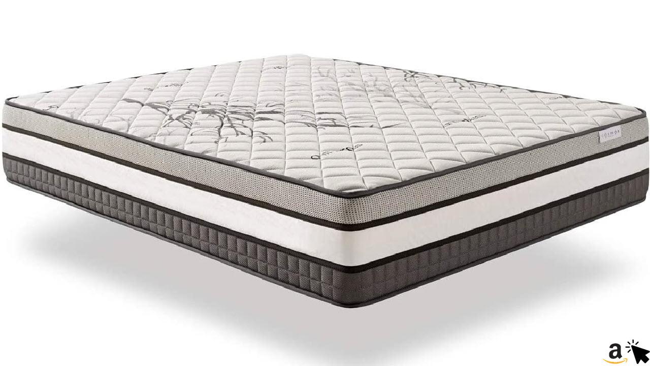 COSMOS Solar LatexMatratze, Plus Komfort Multischicht System, 30 cm hoch, Thermoregulierend Premium Memory, Ergonomisch Langlebig
