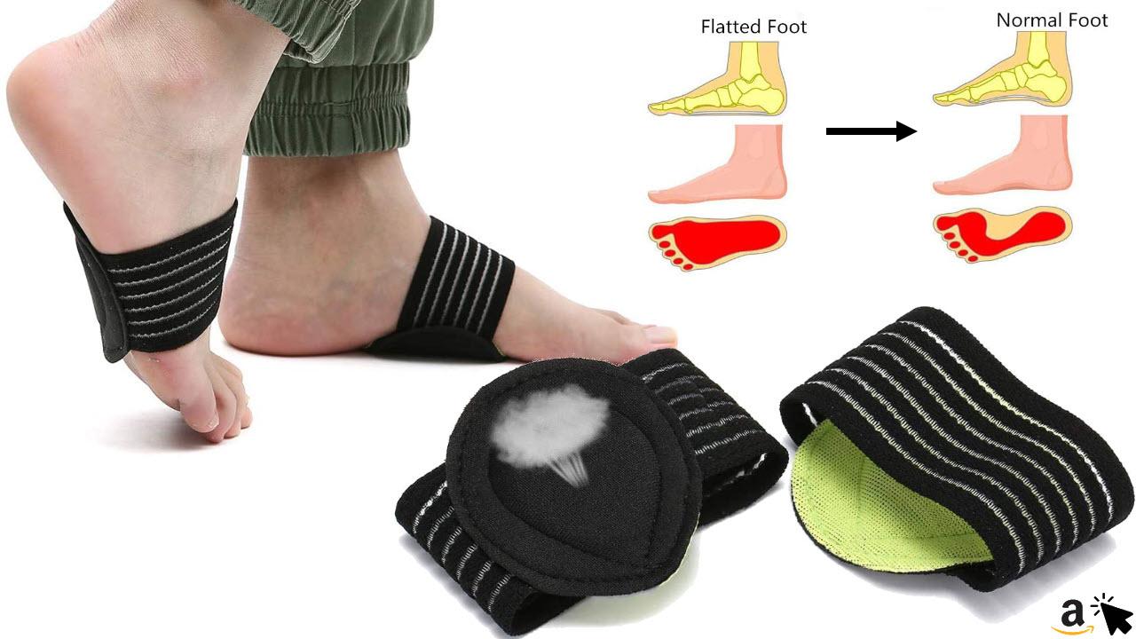 Charminer Gepolsterte Kompressionsbandage für Fußgewölbe, Unterstützung für Fersensporn Plantarfasziitis Fußpolster orthopädische Einlegesohlen Socken, für Plattfüße, flache Füße, Fußschmerzen