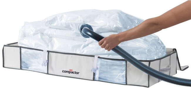 Compactor Kommode mit Vakuumbeutel Bettbox-Aufbewahrungstaschen