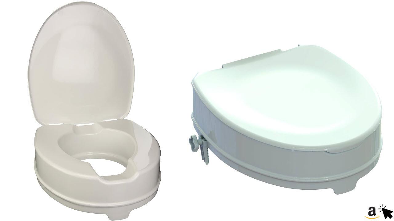 GIMA WC-Sitzerhöhung mit Befestigungssystem & Deckel, Erhöhung 10 cm