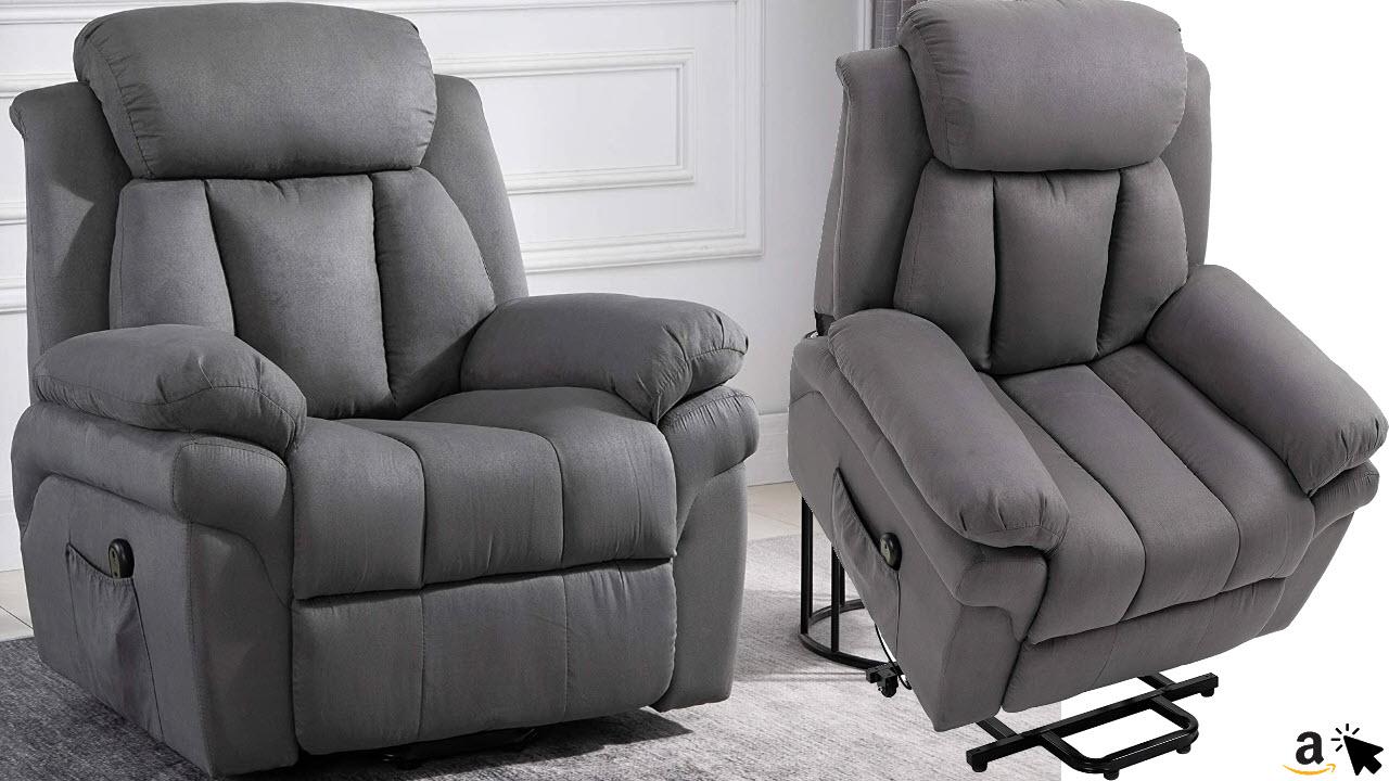 HOMCOM Elektrischer Fernsehsessel Aufstehsessel Relaxsessel Sessel mit Aufstehhilfe