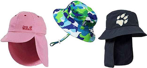 Kinder Sonnenh Nackenschutz Mütze Cappy