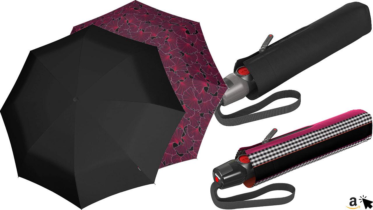 Knirps T200 M Duomatic Taschenschirm Regenschirm, viele Farben und Muster