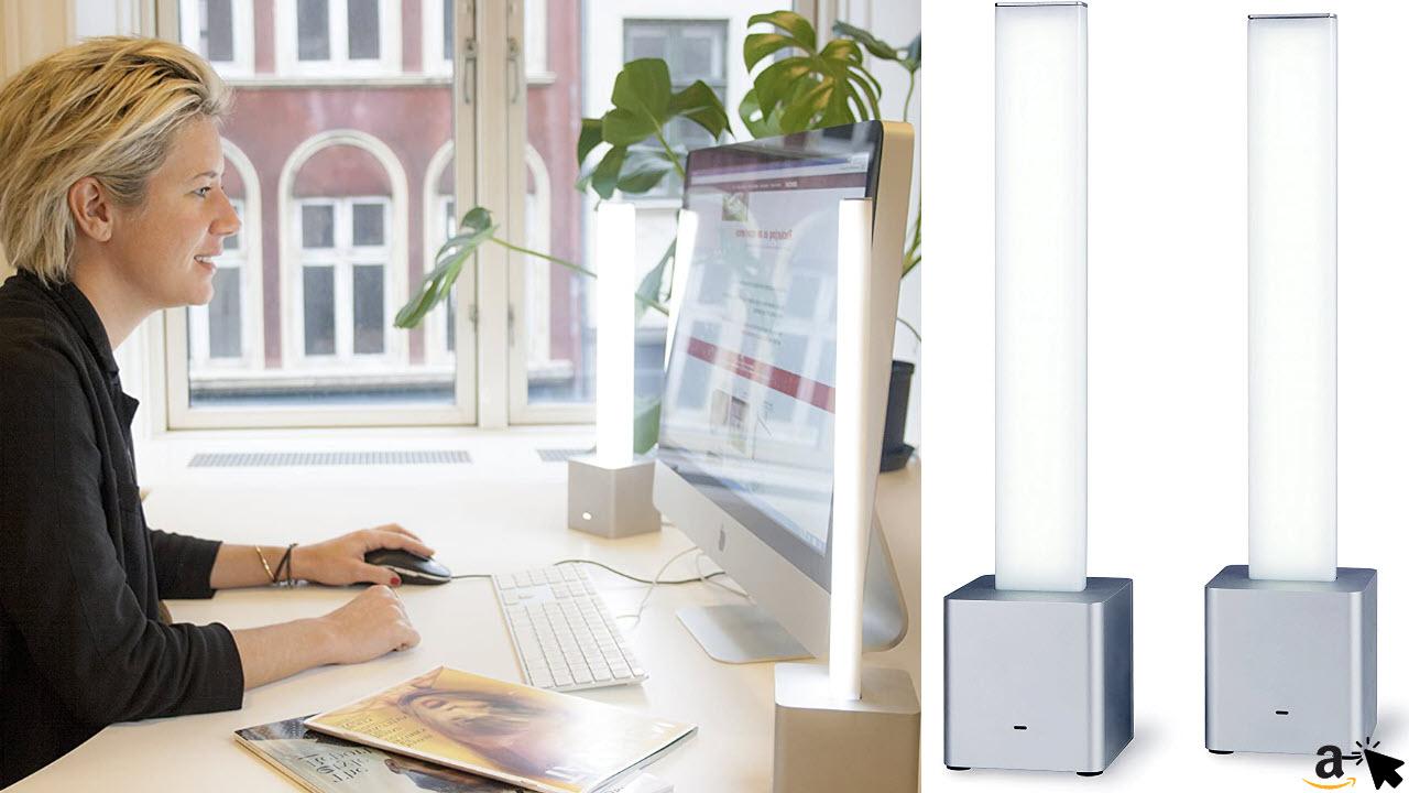 NEEDLITE Designer LED Tageslicht Lampen mit App, Tageslichtleuchte mit 10000 Lux Lichtdusche