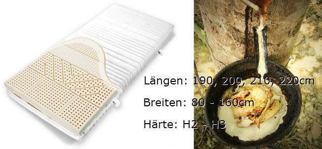 Ravensberger 7-Zonen NATUR Latexmatratze