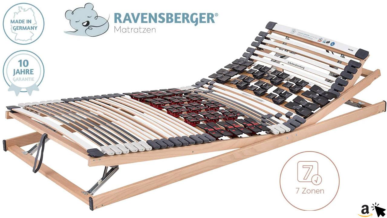 Ravensberger Matratzen Teller-Lattenrost Komfort Duomed VARIABEL Lattenrahmen in verschiedenen Größen