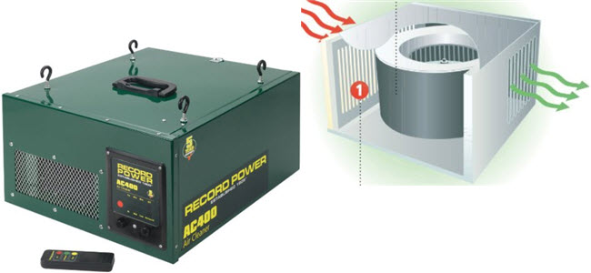 Record Power Werkstatt Luftfilter Luftreinigung