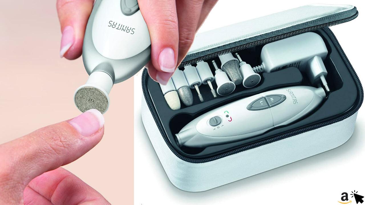 Sanitas SMA 35 elektrisches Maniküre- Pediküre-Set, mit 7 Fußpflege & Nagelpflege-Aufsätzen