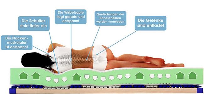 Schlummerparadies 7-Zonen HR-Kaltschaummatratze 19cm h3