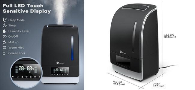 TaoTronics 6L Ultraschall Luftbefeuchter Humidifier bis zu 60m2 sehr leise