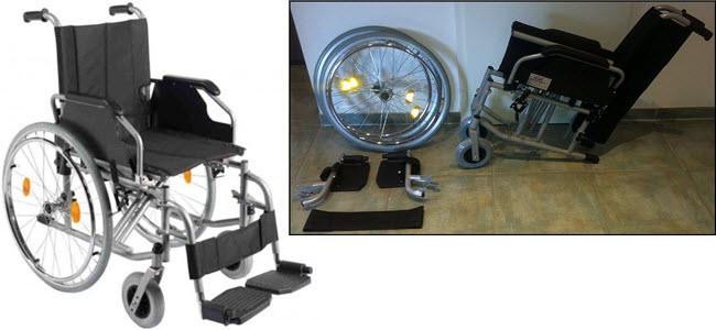 Trendmobil Rollstuhl TMB Faltrollstuhl mit Steckachsensystem Reiserollstuhl