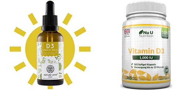 Vitamin D Kapseln und Tropfen