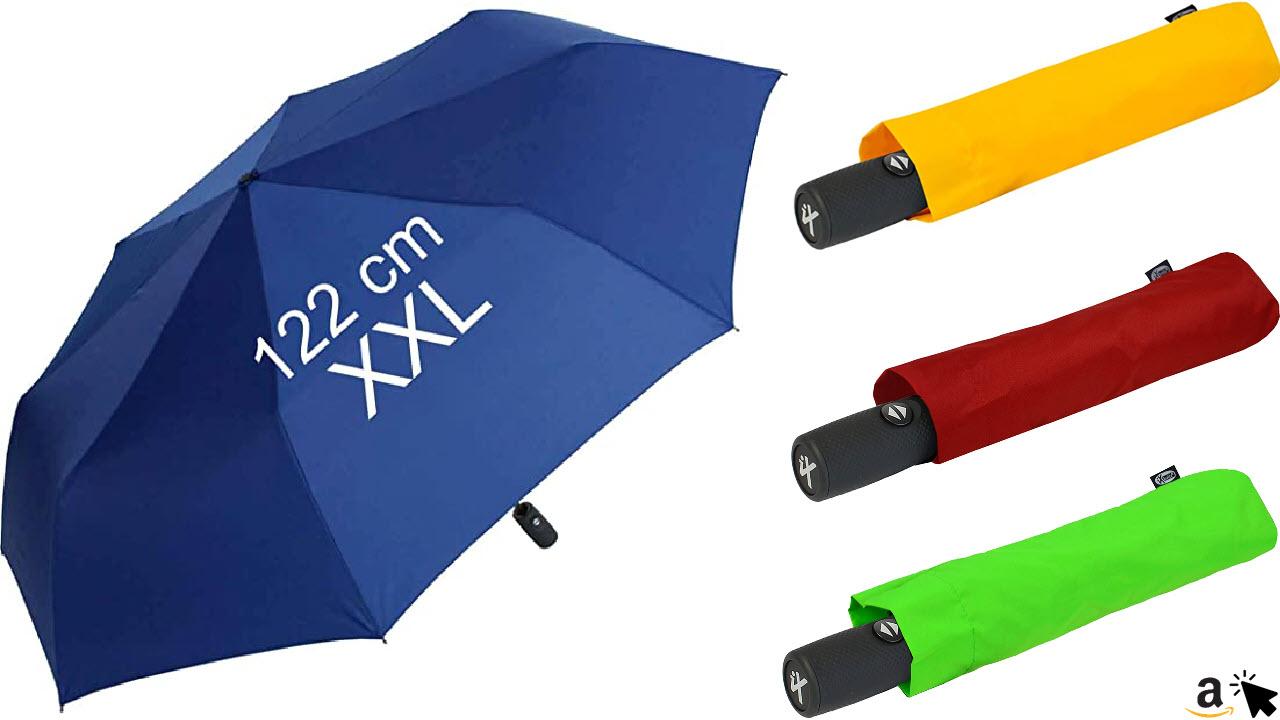 XXL Taschenschirm mit Auf-Zu-Automatik - Full Class - 122 cm großes Dach