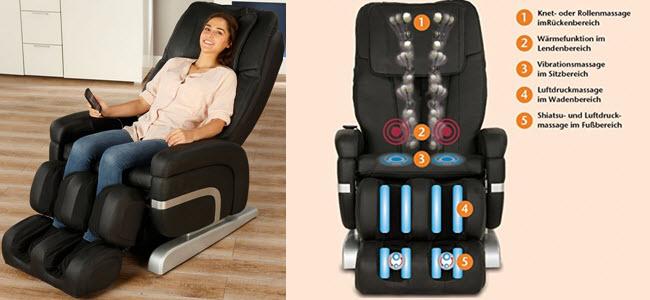 aktivshop Shiatsu Massagesessel Premium Entspannungssessel