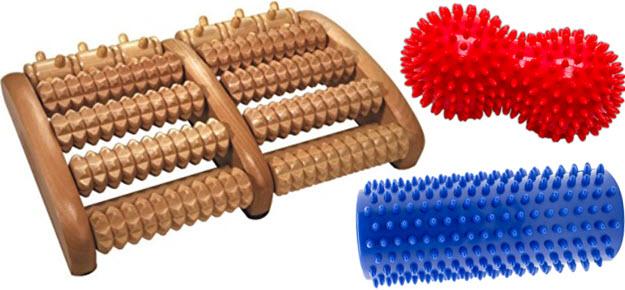 Holz Fußmassageroller Igel Noppen-Peanut & Massagerolle